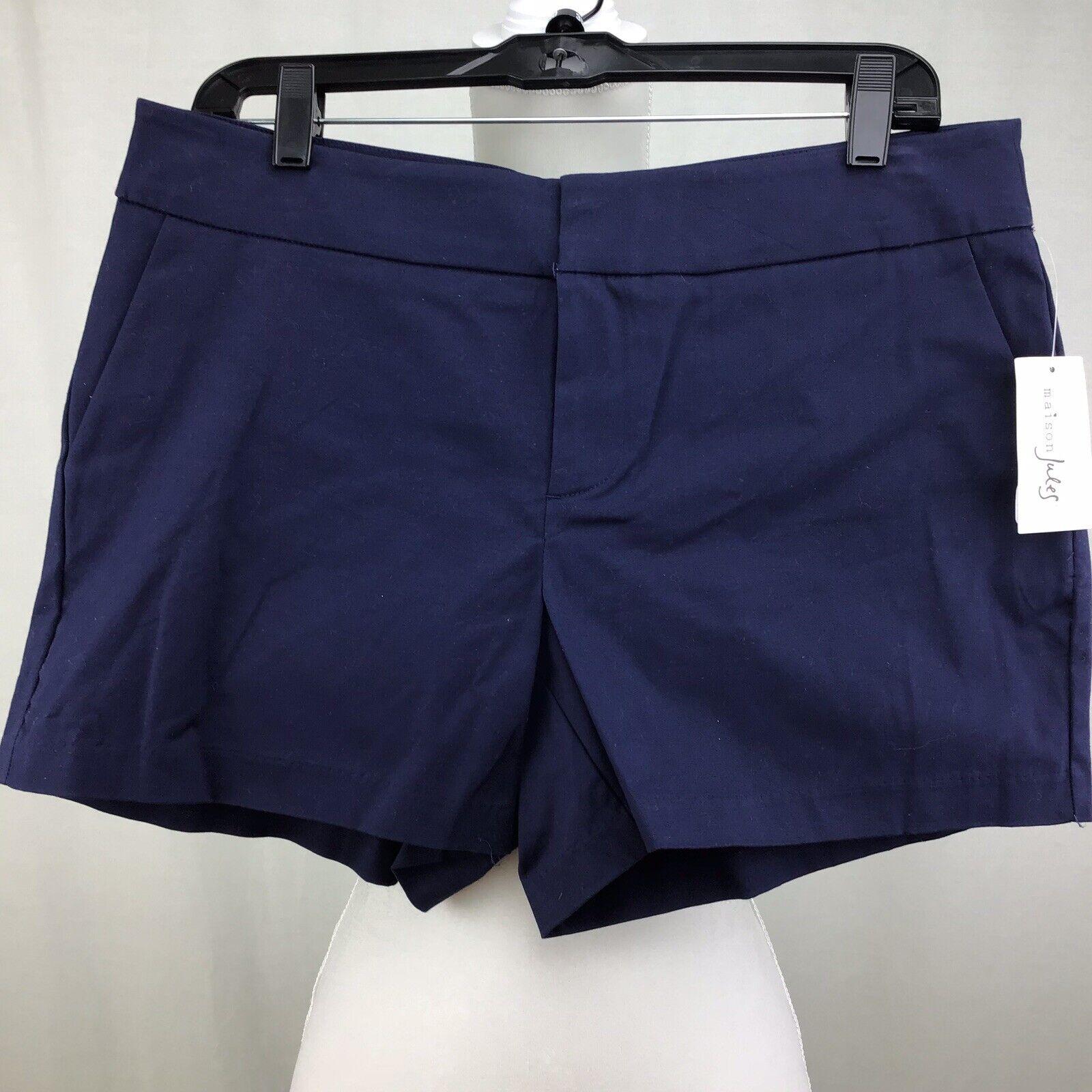 Maison Jules Women Shorts blue Notte Navy Size 14 C0091