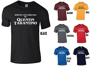 Written-amp-Directed-by-Quentin-Tarantino-T-Shirt-WHITE-Print-Pulp-Fiction