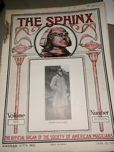 Sphinx-Harry-Rouclere-1921-Issue-Official-Organ-Society-American-Magicians