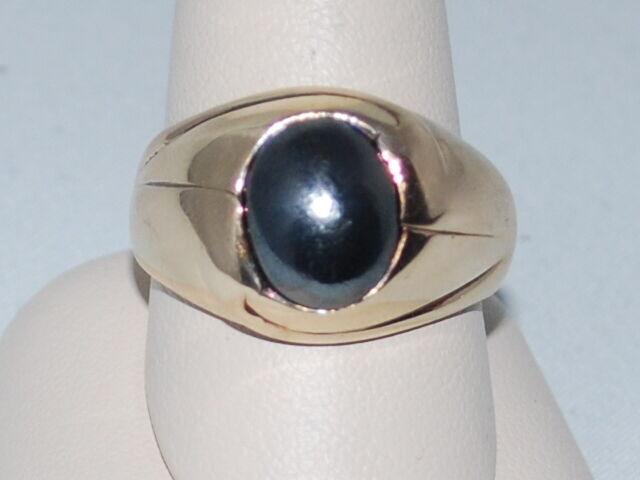 10k gold ring with Hematite gemstone