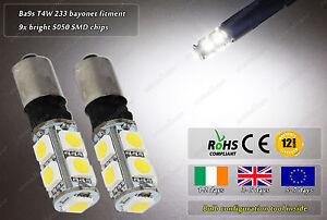 Ba9s-T4W-233-LED-SMD-Xenon-White-Strobe-Police-Flash-Bulbs-Sidelights-Lights-12v