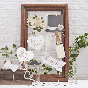 Image Is Loading Team Bride Wedding Photo Booth Props Signs Vintage