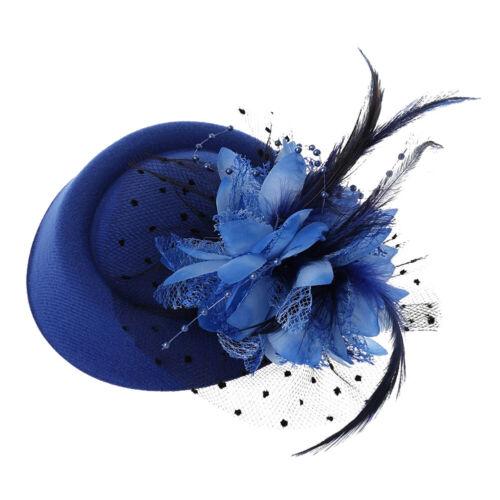 Women/'s Fascinator Hat Feather Flower Headdress Wedding Bridal Headbands