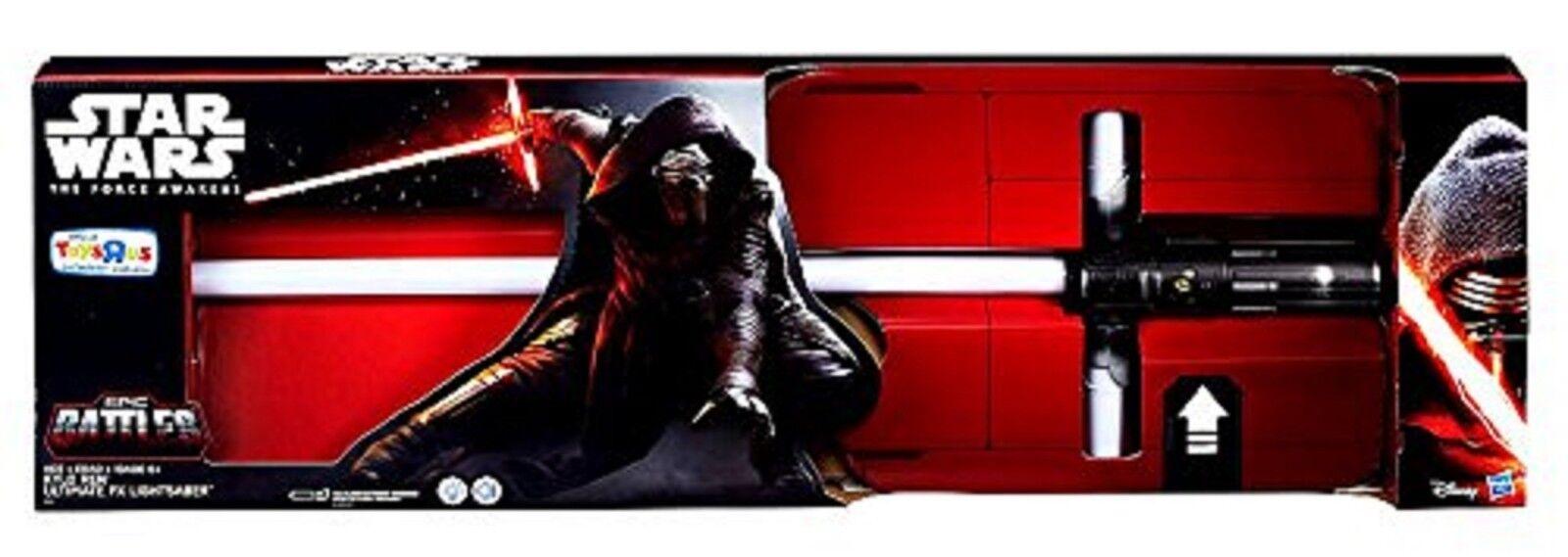 Star Wars Kylo Ren Ultimate FX Lightsaber Ages 6+ Hasbro Light Saber New Toy Fun