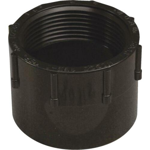 1 Charlotte Pipe 1-1//2 In Hub x FIP Female ABS Adapter ABS 00101  0600HA
