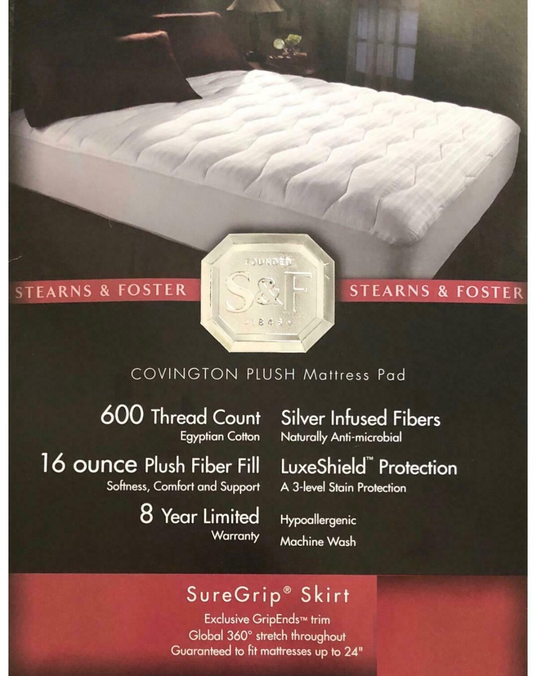 Stearns & Foster Twin Mattress Pad; 400, 600, or 1000 TC for sale