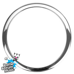 bass drum o 39 s chrome microphone port hole for bass drum skin ebay. Black Bedroom Furniture Sets. Home Design Ideas