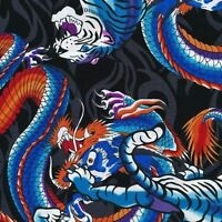 1 Yard Of Fabri-quilt Headgear tigers And Dragons Fabric