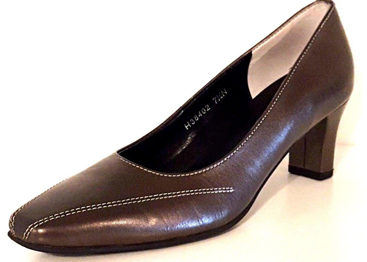 ROS HOMMERSON H38402 PETTIS Metallic Bronze Leather Pumps Women Size  7.5 Narrow