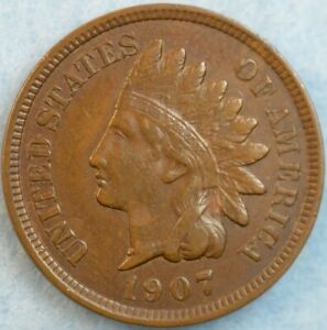 1907 Indian Head Cent Penny Very Nice Old Coin Fast S&H 466