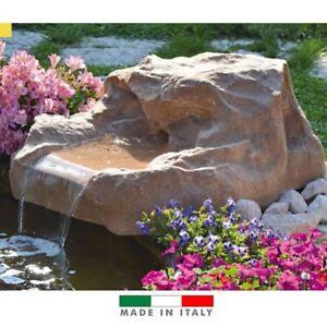 cascata roccia per laghetto vetroresina colore pietra