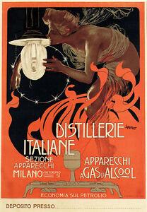 AV18-Vintage-Distillerie-Italiane-Italian-Advertisment-Art-Poster-A3-17-034-x12-034