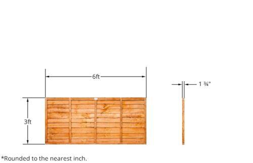 NATIONWIDE DELIVERY 3ft x 6ft Budget Golden Orange Waney Lap Garden Fencing