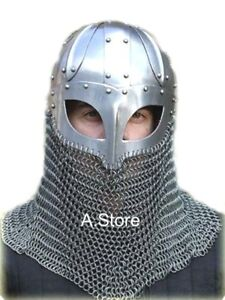 Armor-Viking-Helmet-with-Chainmail-Aventail-One-Size