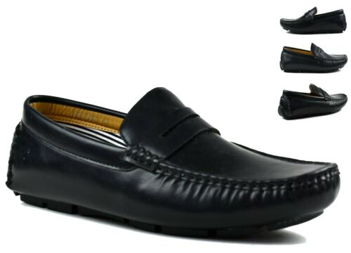 MENS FLAT LOAFERS SLIP ON COMFY ROUND FORMAL SMART LOOK OFFICE WEDDING SHOES