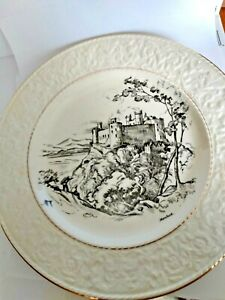 ROYAL-WINTON-EMBOSSED-DECORATIVE-PLATE-12-INCH-ROUND-Harlech-Castle