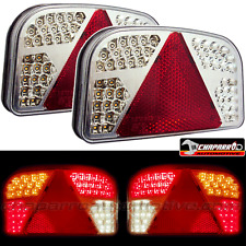 2x piloto trasero 7 funciones de LED HOMOLOGADO para remolques, caravanas,