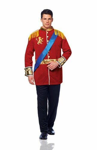 Royal Prince Costume Adult 2 Pc Red Coat /& Blk Pants Military Style Uniform