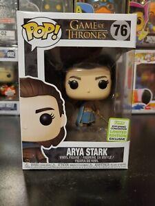 Funko Pop Game Of Thrones Arya Stark ECCC Shared Hbo