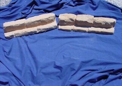 Flagstone Mold Set Border Edger Patio Garden Concrete Cement Stone Molds 5021