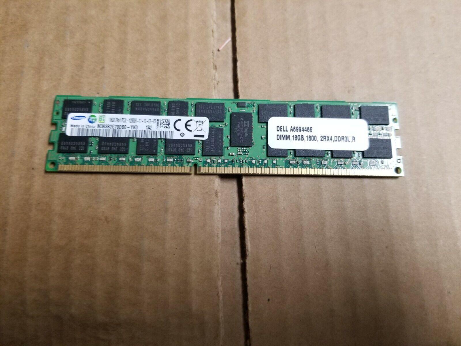 1X16GB 2RX4 PC3L-12800R MEMORY SAMSUNG M393B2G70DB0-YK0 16GB