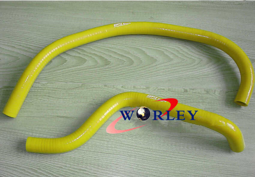 Yellow Silicone radiator coolant hose for SUZUKI LT250R Quadracer 1985-1992