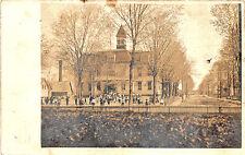 Sanford ME Longfellow's School School Yard RPPC Postcard