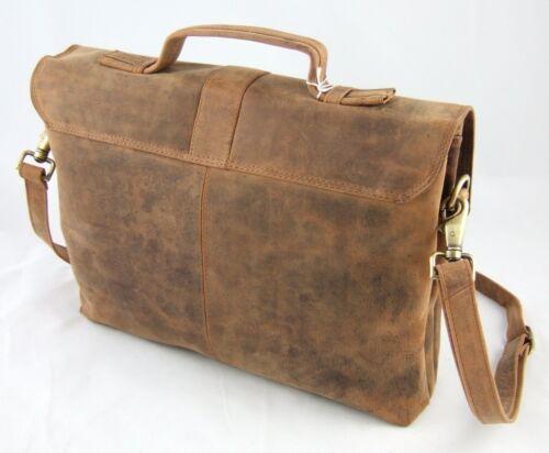 Harold /'s insegnanti Borsa 38*29*10 cm manzo pelle valigetta cartella atti Marrone 327903