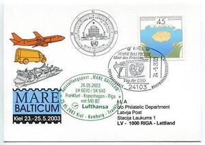 Ffc 2003 Lufthansa Volo Speciale Onu United Nations Uno Mare Balticum Md 80 Ventes Pas ChèRes 50%