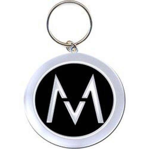 Maroon 5 nero argento ufficiale portachiavi immagine M logo in metallo