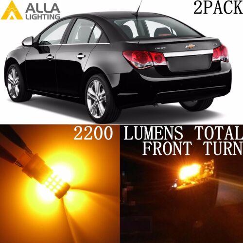 Alla Lighting LED Front Turn Signal Light Amber Yellow Blinker Bulb for Chevy 2x