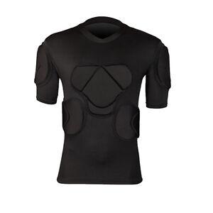 Short Sleeve Goalkeeper Goalie Football Soccer Jersey Shirt Foam Padded Tops Men
