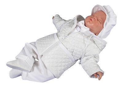 Amichevole Set Cappotto Fisso Tuta Patta Pantaloni Giacca Battesimo Baby Taufhemd Taufjacke Taufkleidung- Ampie Varietà