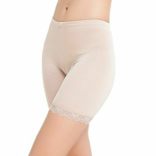 Womens Lace Stretch Safety Panties Ladies Knickers Boxer Briefs Shorts Underwear