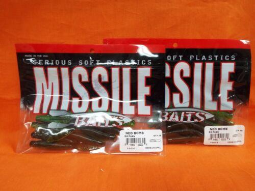 DILL PICKLE MBNB325-DPKL 10PK MISSILE BAITS NED BOMB 2PK/'S