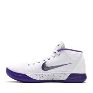 36aa343ecdb3 Nike Men Kobe AD EP Basketball Shoes White purple black 922484-100 ...