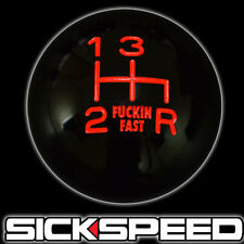 FING FAST SHIFT KNOB FOR 4 SPEED SHORT THROW SHIFTER SELECTOR UN2 KIT BLACK/RED