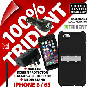 Trident-Kraken-AMS-Rugged-Case-for-Apple-iPhone-6-6S-USB-Car-USB-Mains-Charger