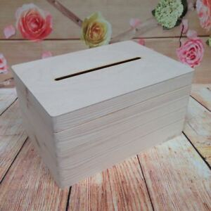 Lockable-Natural-Wooden-Drop-Box-Wedding-Guests-Wish-Post-Box-with-Slot-Funeral
