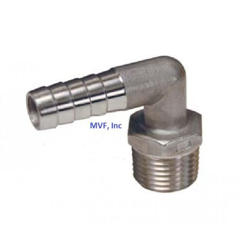 90* HOSE BARB for 3/4 ID HOSE X 3/4 MPT HEX BREWING 316 <HB632