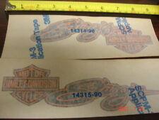 NOS Vintage Sturgis Gas Tank Decals Emblems Stickers Pair Harley FXDB Orange 91