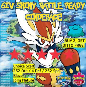 Pokemon-espada-escudo-brillante-6IV-cinderace-Batalla-Listo-idem-Oferta