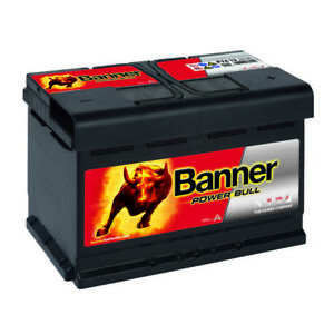 banner power bull p7412 autobatterie 12v 74ah 680a batterie statt 70ah 72ah 75ah ebay. Black Bedroom Furniture Sets. Home Design Ideas