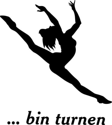 "Wall Tattoo /////"".. am Gymnastics /""Sport Motif-Equipment Gym-acrobatics"
