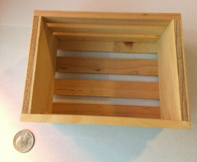 Small Plain Wooden Storage Box Case for Jewellery Small Gadgets Gift Wood c Y4M8