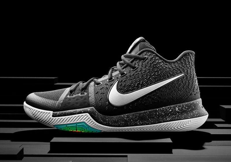 Nike kyrie 3 iii ghiaccio nero argento metallico 852395-018 dimensioni