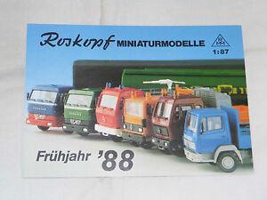 Neuheiten-Fruehjahr-1988-RMM-Roskopf-Modellautos-Modelleisenbahn-LKW-Feuerwehr-H0