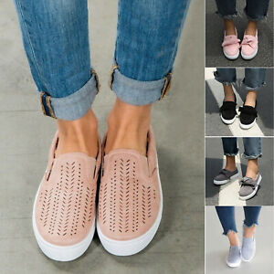 Women-039-s-Trainers-Flat-Loafers-Sneaker-Ladies-Slip-On-Walking-Sports-Casual-Shoes