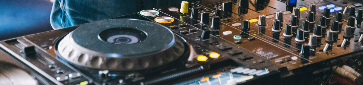 Shop Event Pre-owned DJ Equipment Mixers, controllers, and headphones.