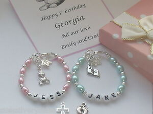 Image Is Loading Niece 1st Birthday Christening Gift Personalised Bracelet